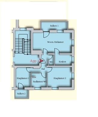 appartement 11 kaprun plattegrond